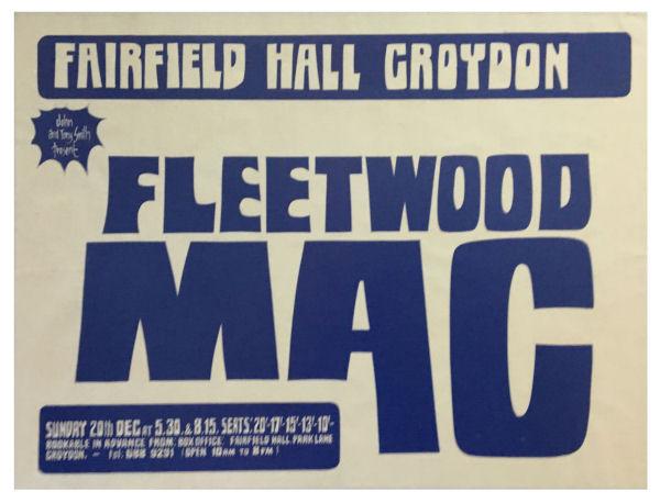 Fleetwood Mac Croydon Concert Poster