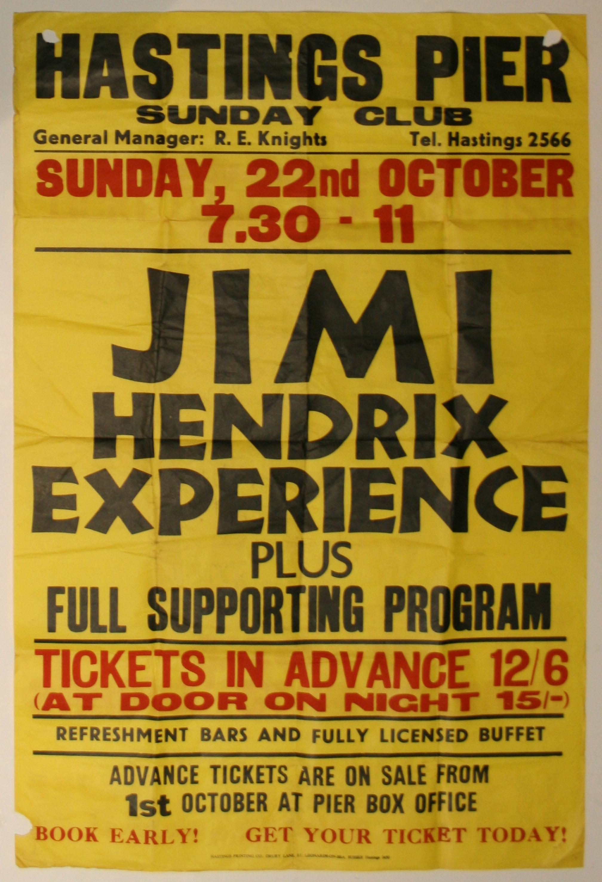 we buy jimi hendrix concert memorabilia